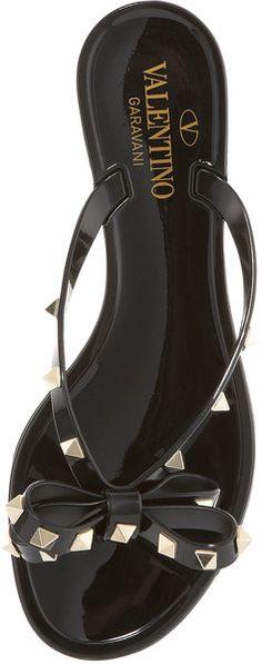 0a144f5f46d881 Valentino Rockstud Jelly in Black - Lyst Valentino Black