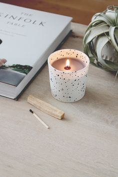 diy faux speckled candles | almost makes perfect | makers market