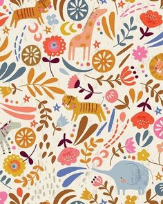 My 'Safari Meadow' giftwrap can be purchased from the @paperandcloth_design_studio shop at @notonthehighstreet Get five sheets (50cm x 70cm) for £10 + postage, shipped in a lovely little tube to keep them snug during their travels There are lots of other designs available in the shop too, so take a looksie! #giftwrap #paperandcloth #illustration #design #wrap #notonthehighstreet #pattern #surfacepattern