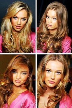 Long loose curls for this season - classic Victoria's secret hair