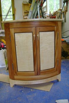 curly maple cabinet doors sycamore and maple corner cabinet by jcsterling lumberjocks