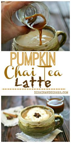 Pumpkin Chai Tea Latte Concentrate - make it once then just add iced or steamed milk to it during the week for a quick latte!  #FoodNetwork #FallFest #pumpkin #recipe #latte #Chai