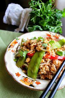 The taste of Myriam !: Thai chicken stir fry rice | Riz frit thaïe au poulet