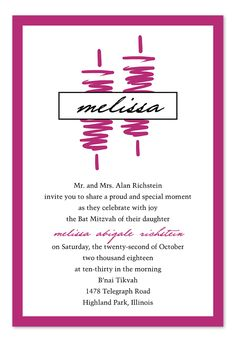 Called to the Torah - Bat Mitzvah Invitations by Invitation Consultants. (IC-RLP-2037 )