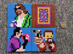 Long Black Fingers : Big Lebowski And Goonies Perler Bead Coasters
