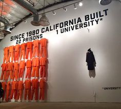 This sobering statistic  displayed in an art exhibit at 'Manifest Justice', a creative community exhibition in Los Angeles last week: Since 1980 California built 22 prisons and 1 university | I wouldn't pin this all on 'capitalism' but can agree that better education could help resolve this issue.