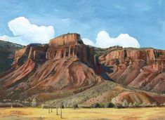 """Original Colorado Landscape Painting """"October Afternoon At The Redlands"""" by Colorado Artist Nancee Jean Busse, Painter of the American West Western Landscape, Mountain Landscape, Landscape Art, Landscape Paintings, Landscapes, Colorado National Monument, Busse, Colorado Mountains, People Art"""