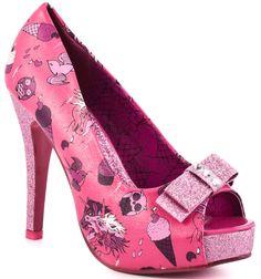Hot Pink Glitter Platform High Heels | Pink high heels | Pinterest