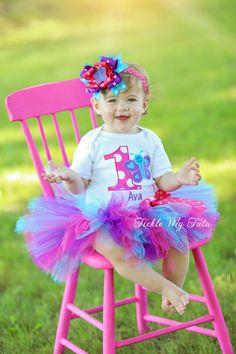 "Butterfly Themed ""Ava"" Birthday Tutu Outfit...www.ticklemytutu.com"