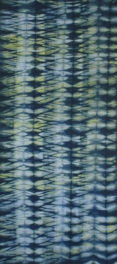 Hand Dyed Shibori Fabric Takikawa One Half Yard by vickiwelsh