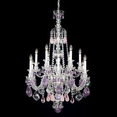 Purple Chandelier- for a girls room? :)