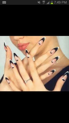 Point nails-great for Halloween!