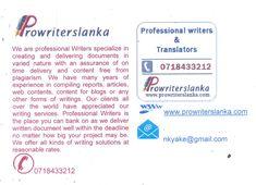 Professional Writing Posts By Nanda Karunanayake  Professional