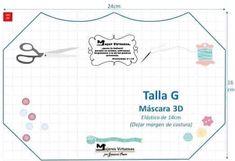 Mascara de tecido 3D: Moldes e medidas em todos os tamanhos para imprimir grátis - Como Fazer Face Masks For Kids, Easy Face Masks, Homemade Face Masks, Diy Face Mask, Mascara 3d, Craft Tutorials, Sewing Tutorials, Sewing Patterns, Sewing Hacks