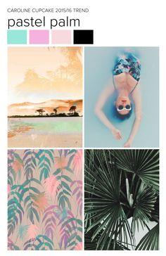 2015/16 Pastel Palm, patterns by Caroline Cupcake.