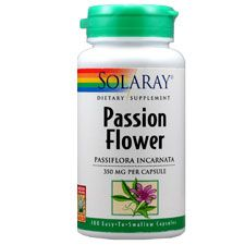 Passion Flower 350 Mg 100 Capsules Solaray Herbal Blends Passion Flower Clover Seed