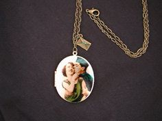 Finally Home Soldier Vintage Locket Necklace by luvswoodencars2