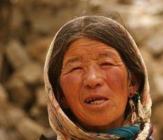 elderly Ladakhi woman