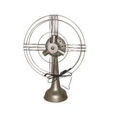 Distinctively Punctuated Metal Fan Design Table Lamp, Gold