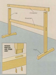 frame-and-foot sawhorse plans