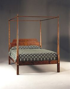 Everyone loves tiger maple and MJ's Pencil Post bed is in tiger maple is the epitome of grace and tradition.
