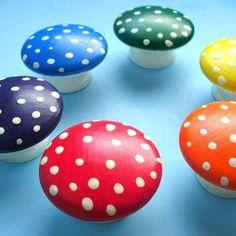Montessori Toy, Rainbow Mushrooms - Educational Toys / Wooden Toy. $25.00, via Etsy.