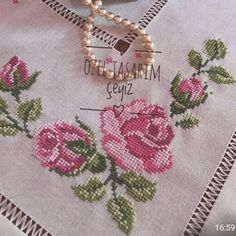 #brezilyanakışı#salontakimi #yatakodasıtakımı #servistakımı #mutfaktakimi olarak istenilen renklerde kişiye özel tasarım… Cross Stitch Boarders, Butterfly Cross Stitch, Cross Stitch Rose, Cross Stitch Flowers, Cross Stitch Designs, Hand Embroidery Design Patterns, Ribbon Embroidery Tutorial, Silk Ribbon Embroidery, Embroidery Applique