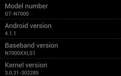 Samsung Galaxy Note Android 4.1 Jelly Bean Firmware Leaked
