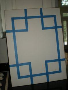 Easy DIY canvas art via: thegoodlife-lindsay.blogspot.com