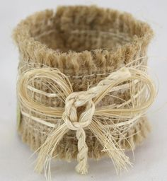 Burlap Napkin Rings - set of 6 #napkinring #thechicroomshop