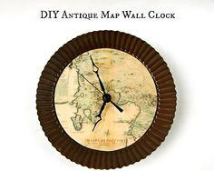 Make a Map Themed Wall Clock | Morena's Corner