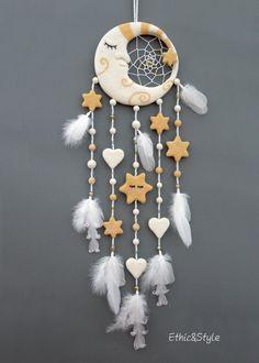"Dreamcatcher ""Moon"", room decor for children, ethicstyle.etsy.com  #dreamcatcher #babys_room_ideas #childrenroomdecor"