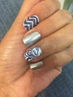 Decorado de uñas con estampas hechas con esmalte!!!
