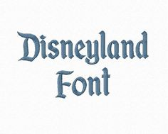 Disneyland Machine Embroidery Font Monogram by RivermillEmbroidery, $2.95