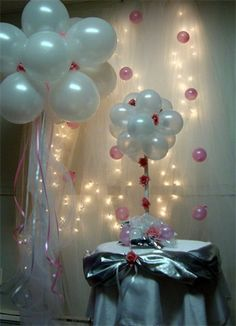 Balloon display #baby shower