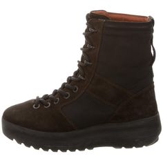 Pre-owned Yeezy Season 3 Military Boots ($475) ❤ liked on Polyvore featuring shoes, boots, ankle booties, black, black booties, laced up ankle boots, lace-up booties, lace up combat boots and lace-up bootie
