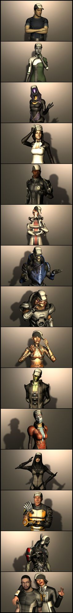 Mass effect. And this is why we don't steal Joker 's hat...although it would be funny to see Legion like that xD