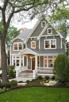 Love this exterior colour palette. Like a gray with green undertone #Exterior #ExteriorPaintColours
