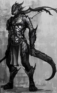 Argonian Warrior  Source: Unknown