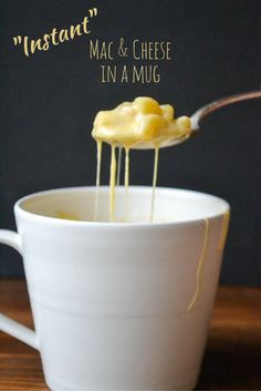 Instant Mac & Cheese in a Mug....because everyone needs to know how to make instant mac n' cheese....