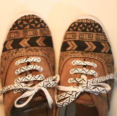 tribal sneakers