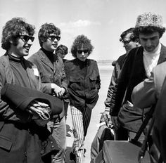 Bob Dylan & The Hawks arrive at Le Bourget Airport, Paris 1966