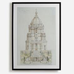 'Record drawing of Ashton Memorial, Lancaster' Royal Academy Of Arts, Photo Pin, Black Wood, Lancaster, Great Photos, Original Image, Black And White Photography, Wall Prints, Wall Murals