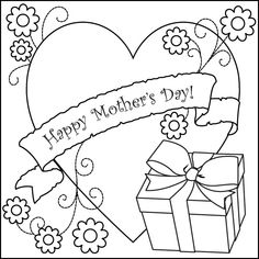 I love my mom, and I love my kids.  COLORING BOOK PAGE
