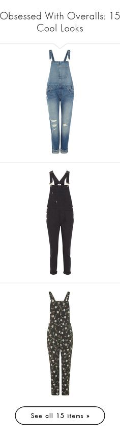 """""""Obsessed With Overalls: 15 Cool Looks"""" by polyvore-editorial ❤ liked on Polyvore featuring overalls, jumpsuits, jeans, dungarees, pants, denim mid wash, women, overall jumpsuit, levi's and blue jumpsuit"""