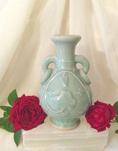 Chinese Longquan Celadon porcelain vase by CoCoBlueTreasures
