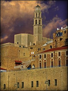 Peter's Church in Old City Jaffa.I went to mass at this church in Sinai Peninsula, Ancient Buildings, World's Most Beautiful, Holy Land, Old City, Cathedrals, Pilgrimage, Jerusalem, Travel Destinations