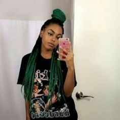 Ombre Box Braids Tutorial and Styles Ombre Box Braids, Colored Box Braids, Blonde Box Braids, Box Braids Hairstyles, French Braid Hairstyles, Haircut Styles For Women, Short Haircut Styles, Big Chop, Box Braids Tutorial