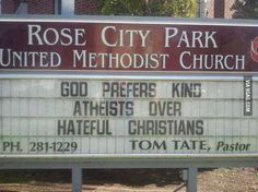 As an atheist I think this is kinda more attractive than other church