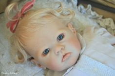 Sweet Reborn SHARLAMAE by Bonnie Brown OOAK Toddler Baby Girl Doll. Here is another adorable baby listing on Ebay by Crystal Nguyen of Paris Alley. I wish I could afford a toddler by her. She is very talented.